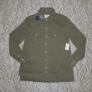 Forever 21 LOVE Green Casual Jacket Long Sleeve
